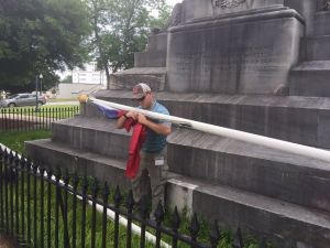 Removing Confederate flag June 2015